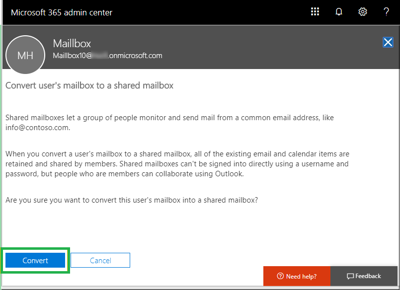 Export Office 365 User Mailbox to Shared & Back to User Mailbox?