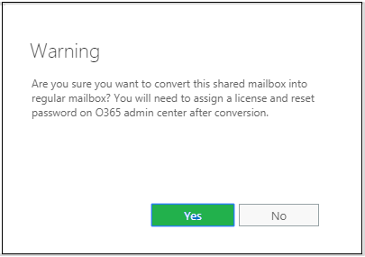 Steps to Convert Office 365 User Mailbox to Shared & Back to User Mailbox?