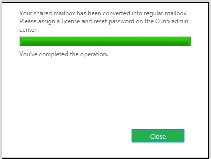 Export Office 365 User Mailbox to Shared Mailbox