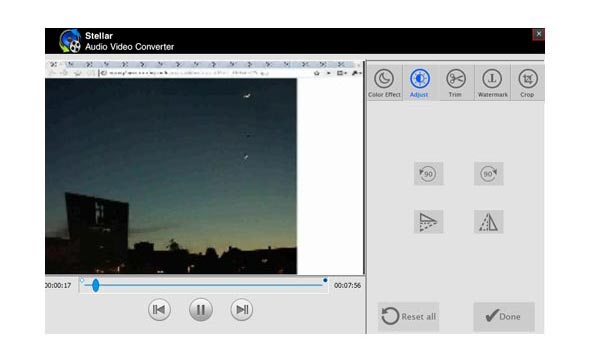 Select the file format to convert audio video files