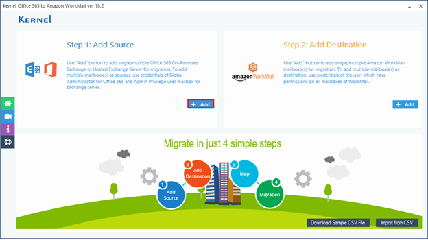Migrate Office 365 to Amazon Workmail - Home Screens