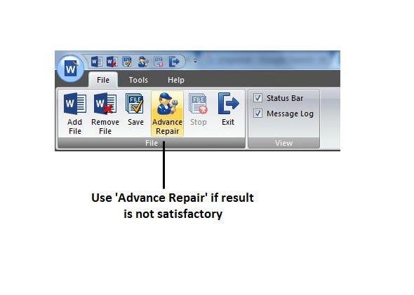Word Document Recovery process